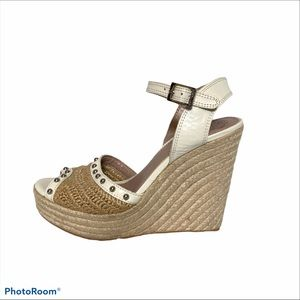 Vince Camuto leather espadrille wedge VC Halen